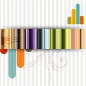 Link toFashion striped background vector map