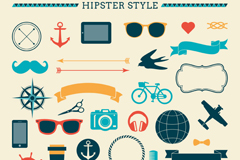 Fashion style design elements vector