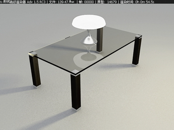 Link toFashion taste fine furniture, glass coffee table 3d model