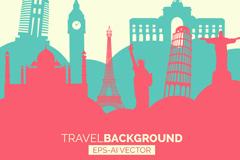 Link toFashion trip silhouette vector
