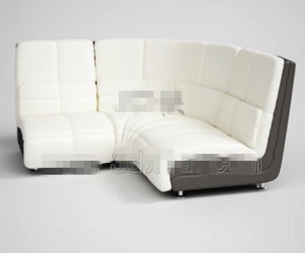 Link toFashion white angular fabric sofa 3d model