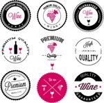 Fashion wine labels vector