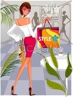 Link toFashion women shop 4 vector
