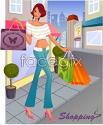 Link toFashion women shop 8 vector