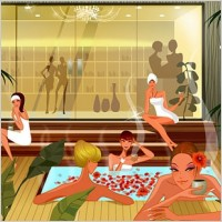Link toFashion women vector in the spa