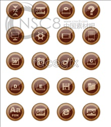 Link toFashion! wood-grain buttons icon