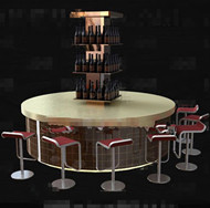 Link toFashionable round bench wine cabinet 3d model