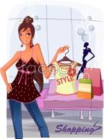 Link toFashionable women shopping 2 vector