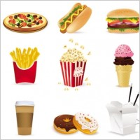 Link toFast food cartoon 01 vector