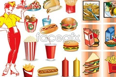 Link toFast food icon vector