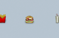 Link toFast food icons psd