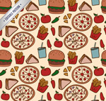 Link toFast food seamless background vector