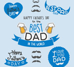Link toFather's day decorative elements vector
