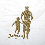 Link toFather's day hand-painted posters vector