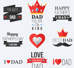 Link toFather's day labels vector