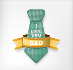 Link toFather's day tie card vector