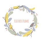 Link toFeather wreath vector