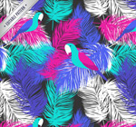 Link toFeathered parrot seamless background vector