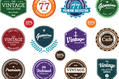 Link toFeatured labels of retro design vector