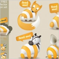 Link toFeed me animals: a free rss feed icon set
