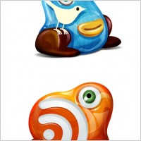 Link toFeed & twitter monster icons icons pack