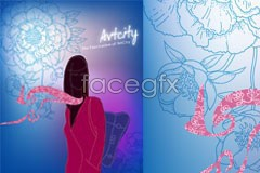 Link toFemale abstract background vector