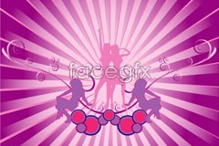 Link toFemale dancing silhouettes vector