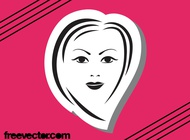 Link toFemale face graphics vector free