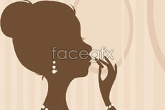 Link toFemale makeup silhouettes vector