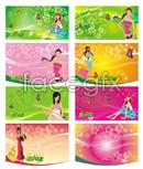 Link toFemale supermarket shopping tag vector