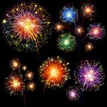 Link toFestival of fireworks vector