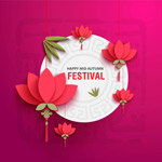 Link toFestival three-dimensional flowers vector