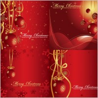 Link toFestive christmas background vector