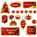 Link toFestive christmas labels vector