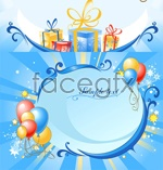 Link toFestive holiday balloons vector