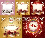 Link toFestive romantic backgrounds vector
