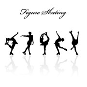 Link toFigure skating design vector silhouettes free