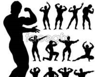 Link toFigure sports silhouettes vector