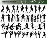 Link toFigures silhouette vector design