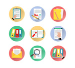 Link toFile and document icons vector