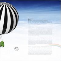 Link toFinancial business layered template air hot air balloon