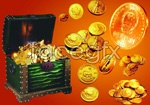 Link toFinancial elements of gold coins psd