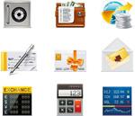 Link toFinancial services application icon vector