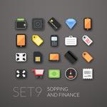 Link toFinancial shopping icon vector