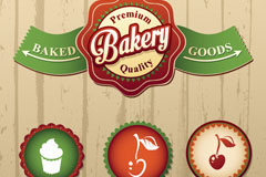 Link toFine bakery label vector