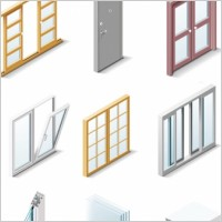 Link toFine doors and windows icon vector