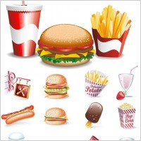 Link toFine fastfood icon vector