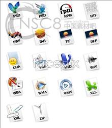 Fine file icons