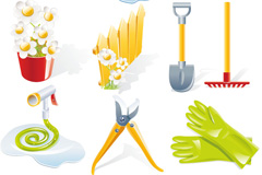 Link toFine garden tools icon vector