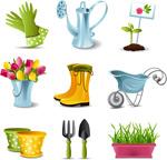 Link toFine gardening icons vector